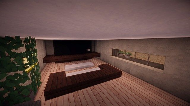 Fusion modern concept mansion minecaft house design 14