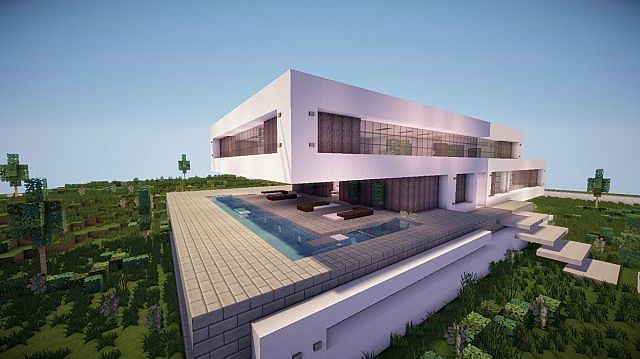 Fusion a modern concept mansion minecraft house design for Modern architecture concept