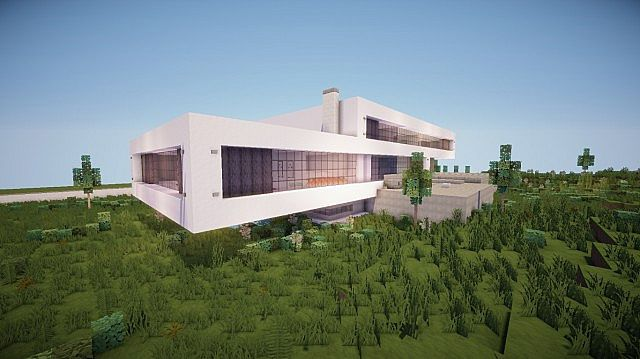 Fusion modern concept mansion minecaft house design 4