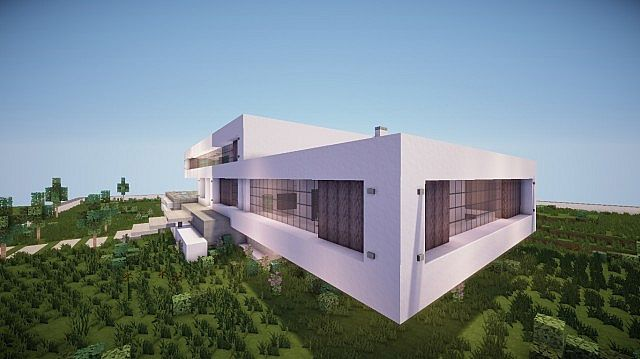Fusion modern concept mansion minecaft house design 5