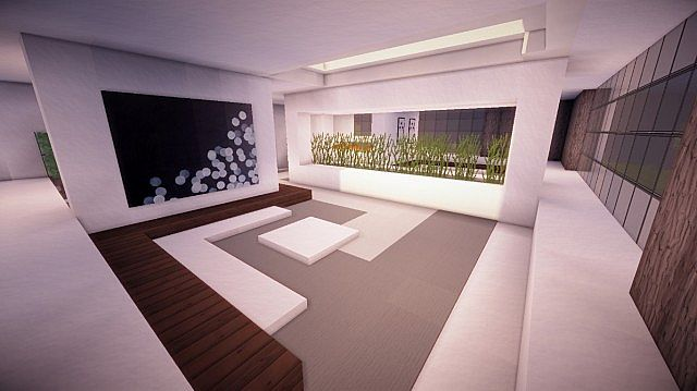 Fusion modern concept mansion minecaft house design 8