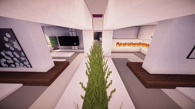 Fusion modern concept mansion minecaft house design 9