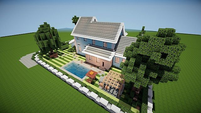 Suburban House Project Minecraft Design