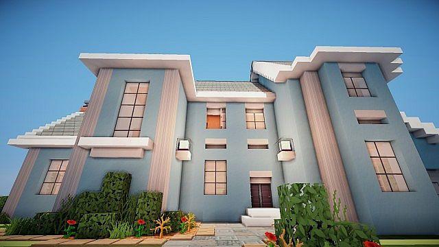 Suburban House project minecraft building ideas