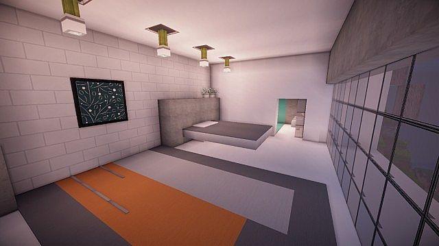 Orbit Minecraft modern mountain house home building 10
