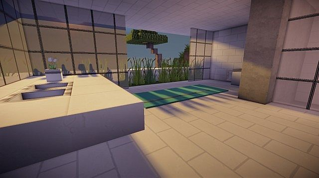 Orbit Minecraft modern mountain house home building 11