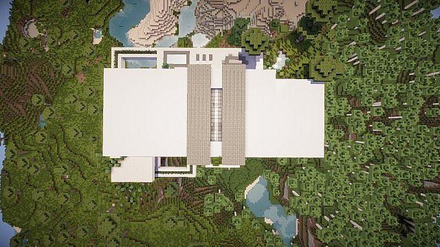 Orbit Minecraft modern mountain house home building 12