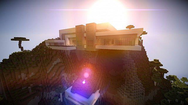 Orbit Minecraft modern mountain house home building 2