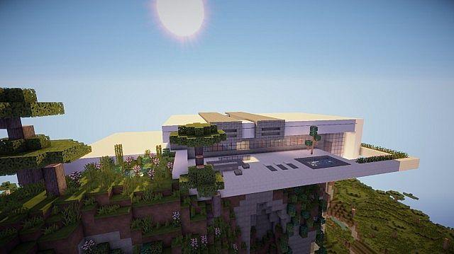 Orbit Minecraft modern mountain house home building 3
