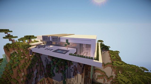 Orbit modern mountain home minecraft house design for Mountain modern house plans