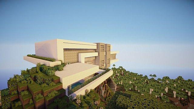 Orbit Minecraft modern mountain house home building 5