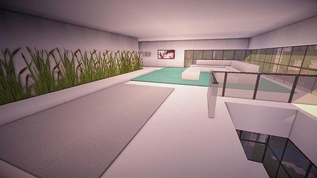 Orbit Minecraft modern mountain house home building 6