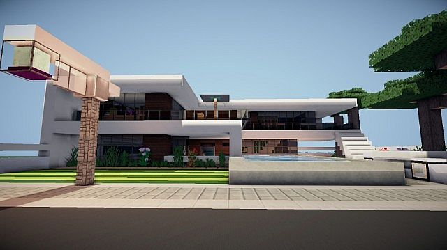 Https Minecrafthousedesign Com Prologue Modern House