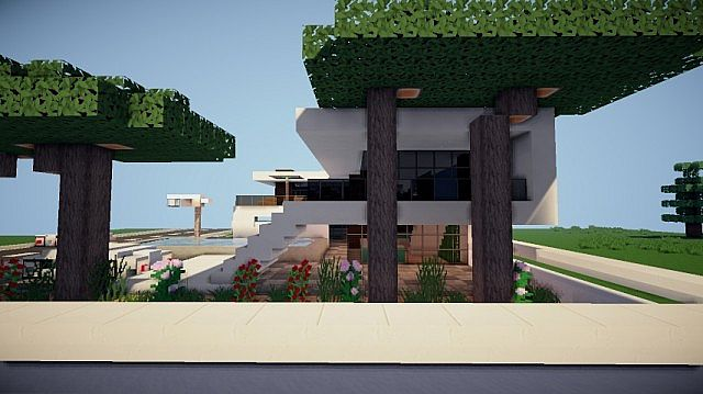 Prologue Modern House build minecraft 4
