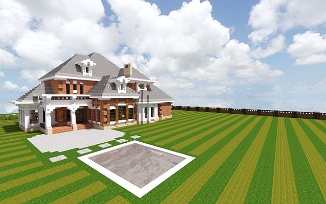 Southern Country Mansion Creative Minecraft building ideas 2