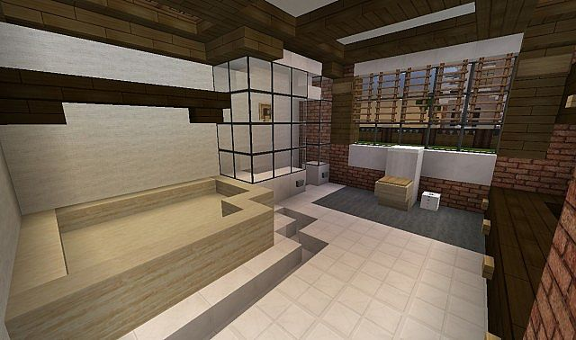 Southern country mansion minecraft house design for Minecraft dining room designs