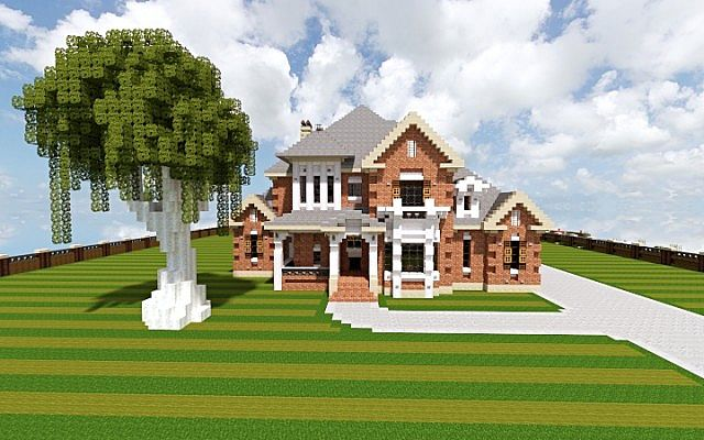 French Country Home minecraft house build 2