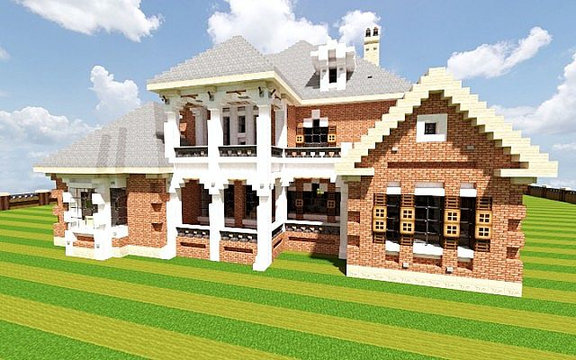 French country home minecraft house design for Building on to my house