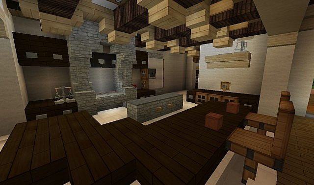 French Country Home minecraft house build 6