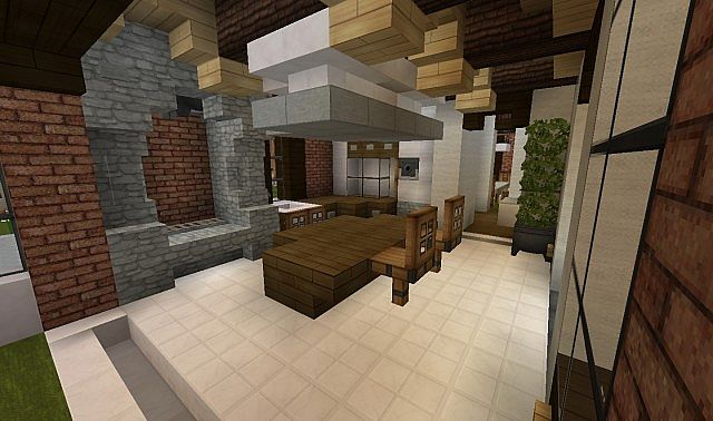 Plantation Home - Country Old Brick minecraft house ideas 5