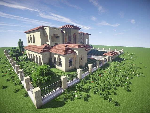 California mansion minecraft house design for Cool ideas for building a house