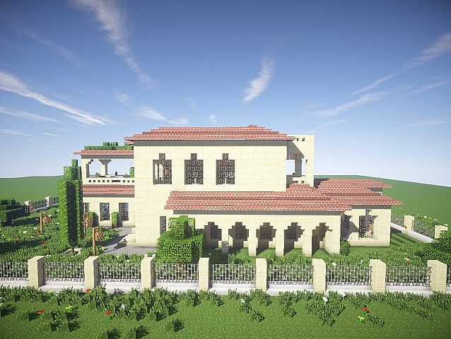 California Mansion minecraft house modern building ideas 3
