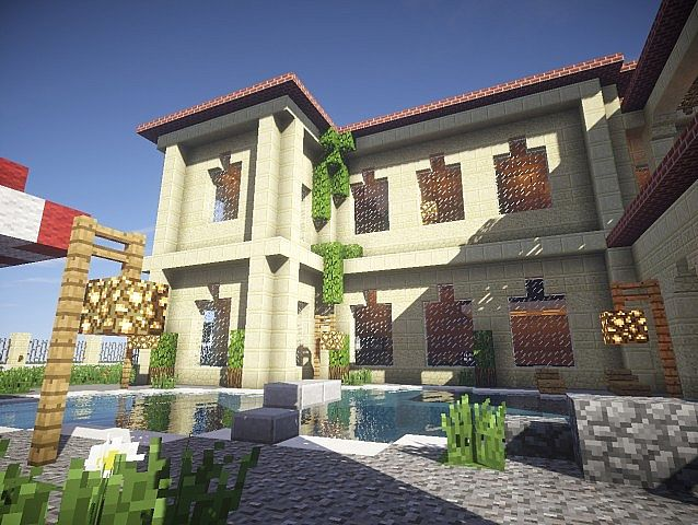California Mansion minecraft house modern building ideas 4
