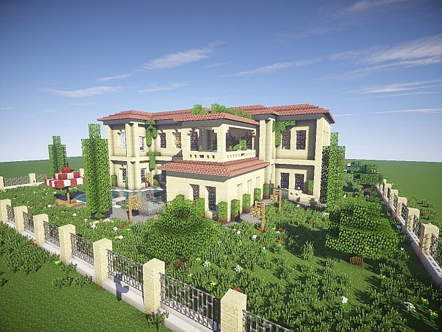 California Mansion minecraft house modern building ideas 5