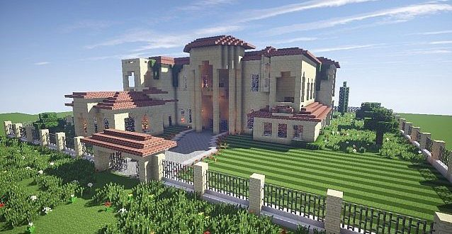 California Mansion – Minecraft House Design