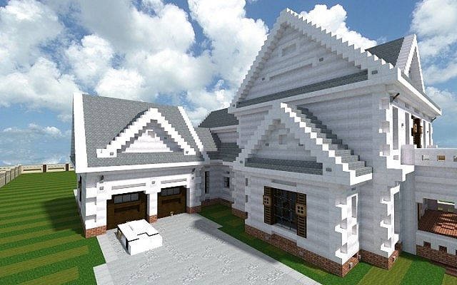 Georgian Home minecraft house design build ideas 2