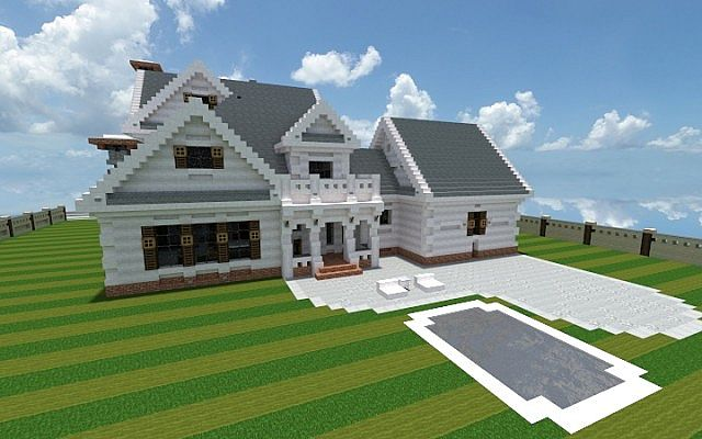 Georgian Home minecraft house design build ideas 3