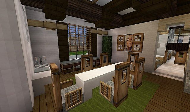 Georgian home minecraft house design for Minecraft dining room designs