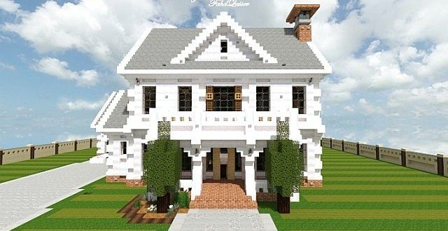 Georgian home minecraft house design for Classic house tutorial