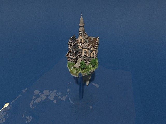 Hustin Manor minecraft house floating 7