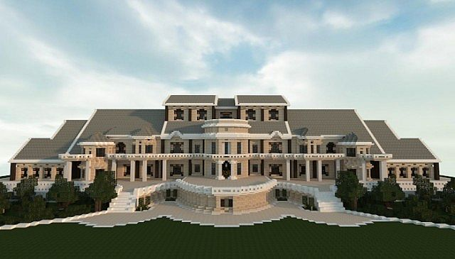 Luxury mansion minecraft house design for Luxury home plans with cost to build