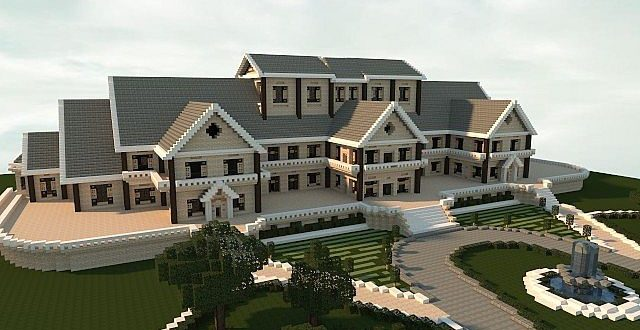 Luxury mansion minecraft house design for Epic house designs