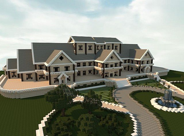 Luxury mansion minecraft house design for House building design ideas