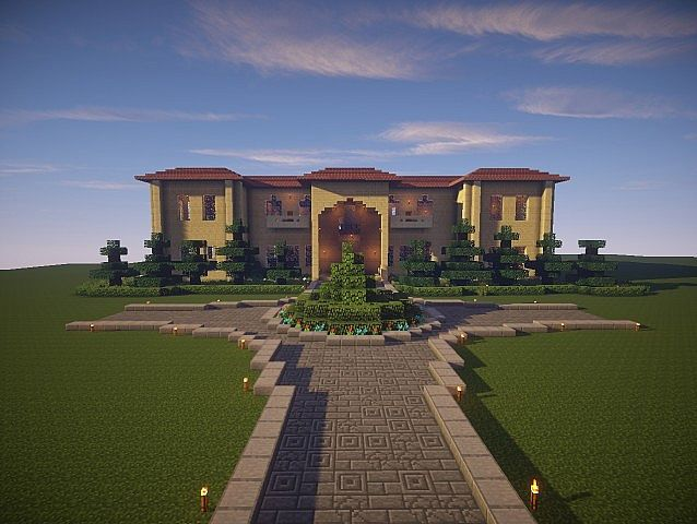The Sandstone Mansion Minecraft House Design