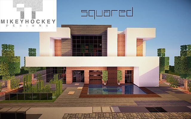 Squared Modern Home design building ideas patio pool