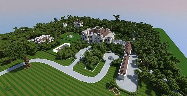Crespi estate beautiful mansion minecraft house design Good house map