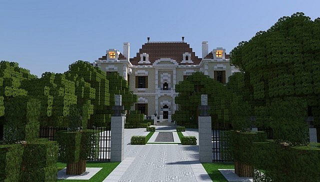 Crespi estate beautiful mansion minecraft house design for Modern estate home plans