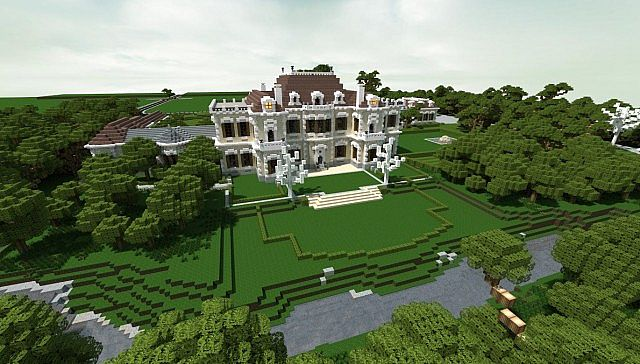 Crespi Estate Rebuild Minecraft house mansion acres luxury building ideas zoom out