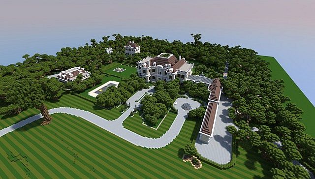 Crespi Estate Rebuild Minecraft house mansion acres luxury building ideas