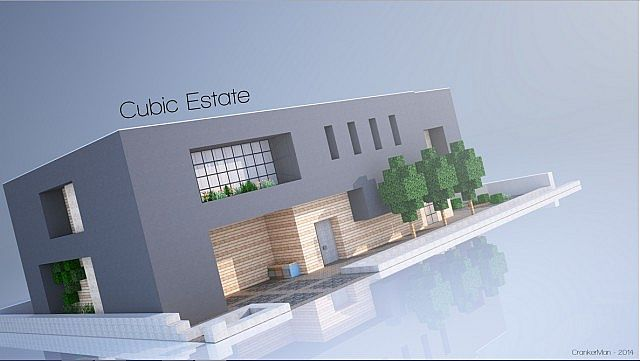 Cubic Estate Minecraft House Modern on Modern One Story House Designs