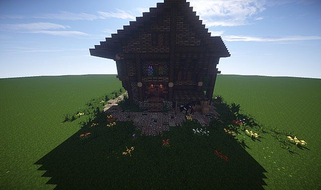 Large Medieval House How To Timelapse video minecraft screenshot build 2