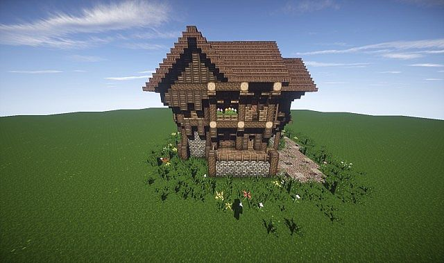 Large Medieval House How To Timelapse video minecraft screenshot build ...