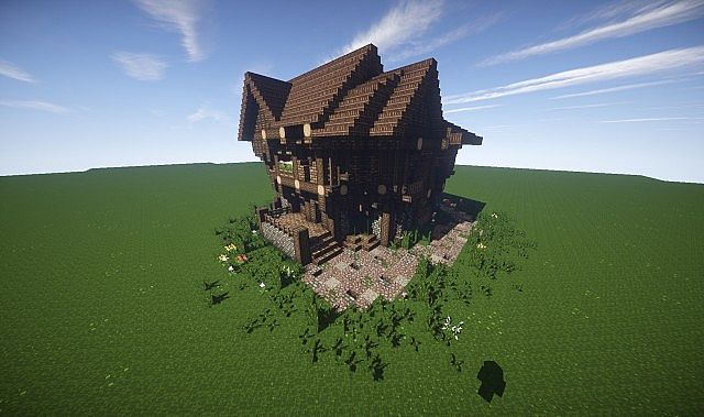 Large Medieval House How To Timelapse video minecraft screenshot build 6