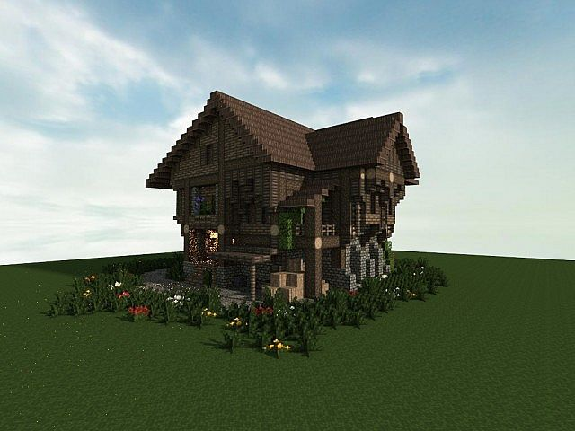 Large Medieval House Minecraft Design