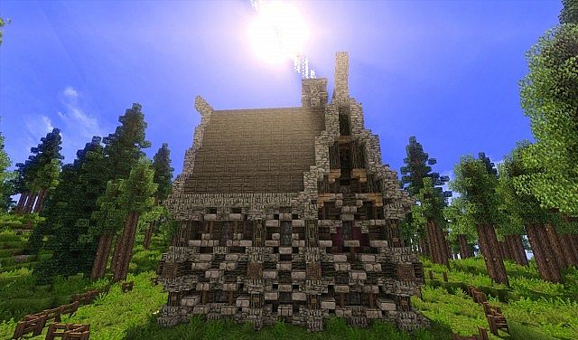 Large Medieval House Small Custom Terrain building scary old building ideas 4