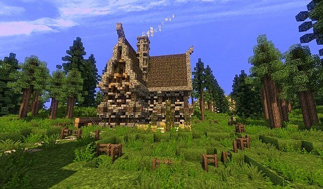 Large Medieval House Small Custom Terrain building scary old building ideas